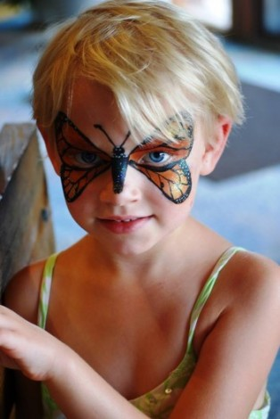 Monarch butterfly face painting @ Black Hill Regional Park