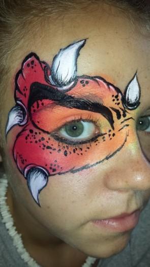 Monster eye face paint
