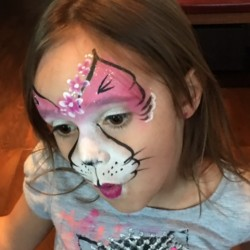 Flower Kitty Face Painting