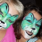 Fanciful cats face painting