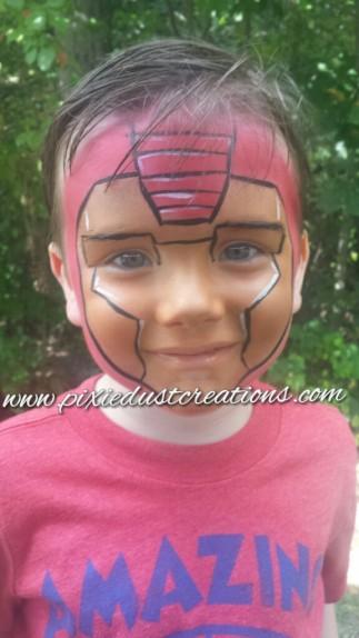 Iron hero face paint