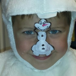 Snowman Face Paint