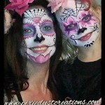 Day of Dead face painting