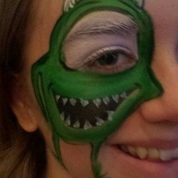 monsters eye face paint
