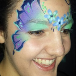 Flower Butterfly face painting