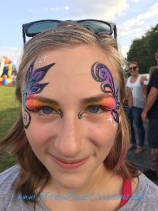 Face Painting for wonderful clients..and grateful!