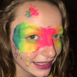 Art Splatter Mask Face Paint